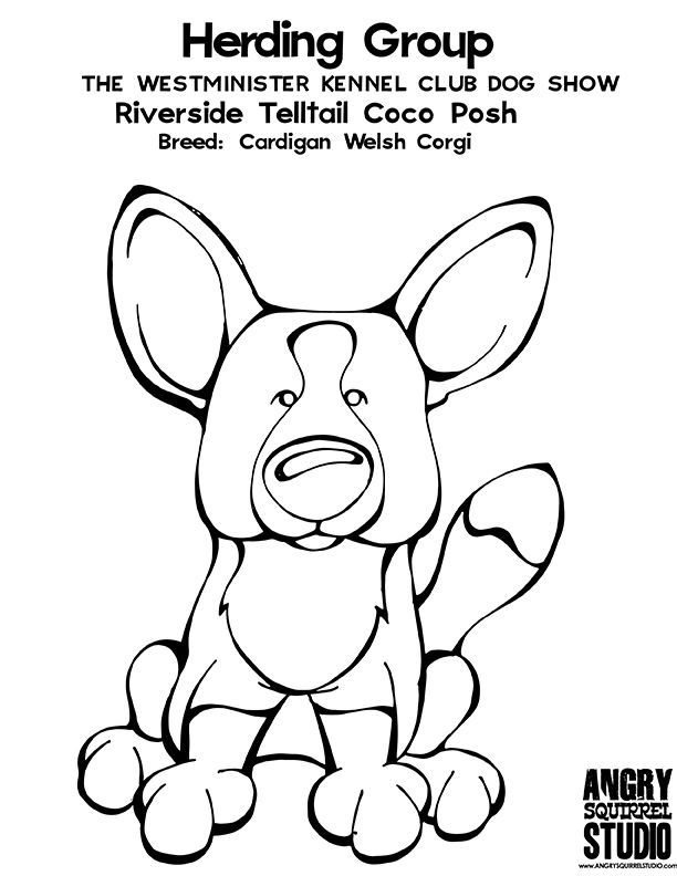 612x792 Corgi Coloring Pages Download And Print For Free