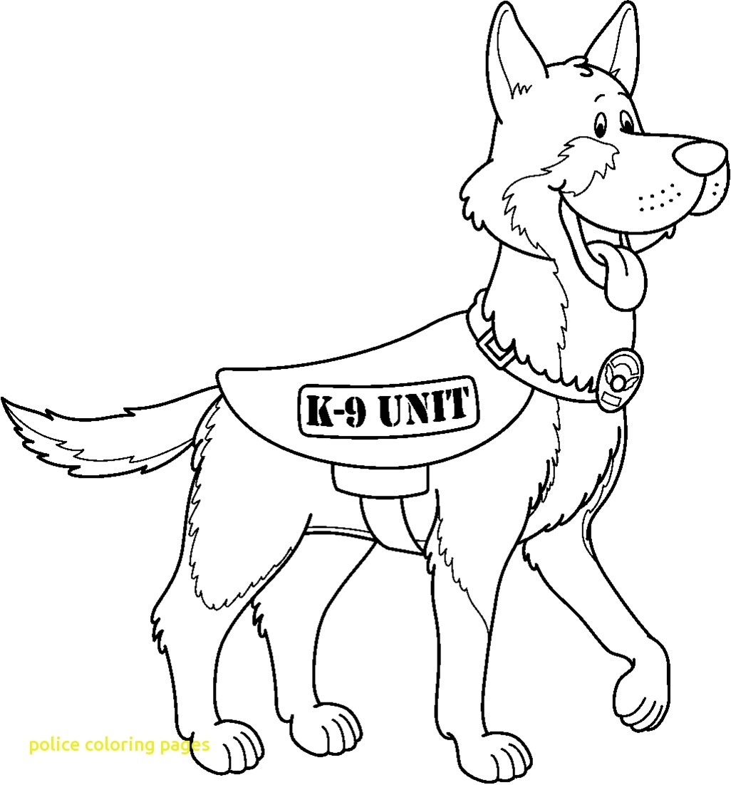 1026x1102 K Police Dog Coloring Pages Download Coloring For Kids