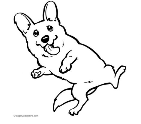 470x415 Coloring Pages Endearing Corgi Coloring Pages Pembroke Welsh
