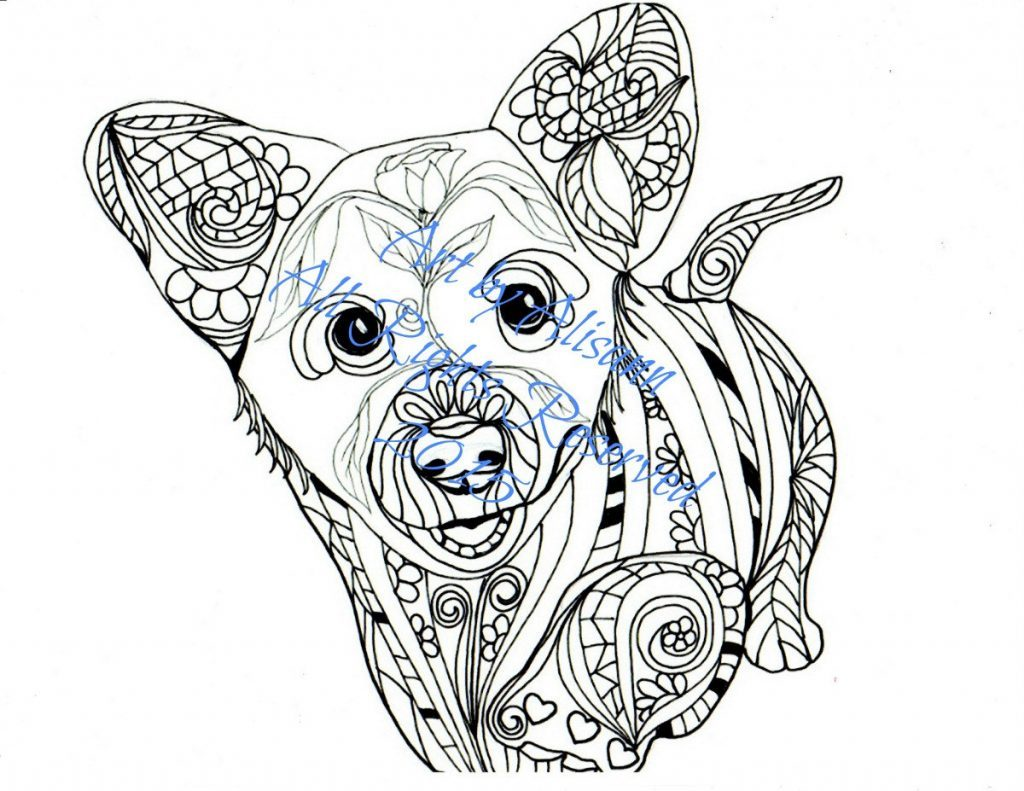 1024x791 Corgi Coloring Pages Delighted Of Corgis Lovely Welsh Page