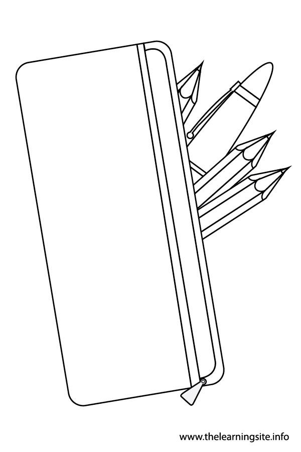 600x900 Pencil Case Coloring Page