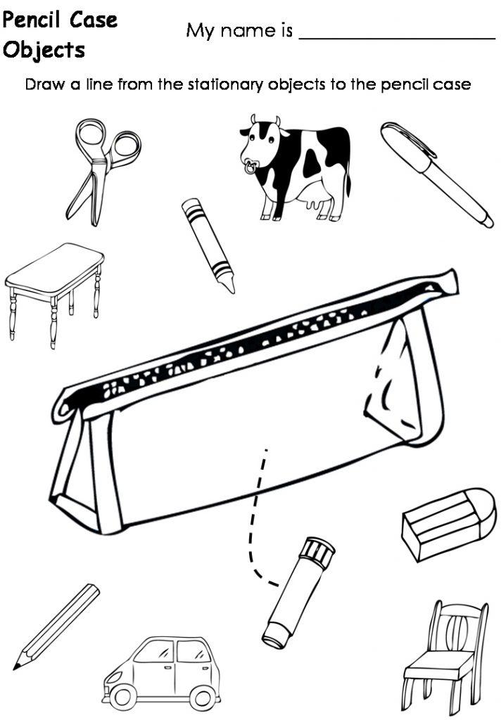 712x1024 Pencil Case Coloring Pages