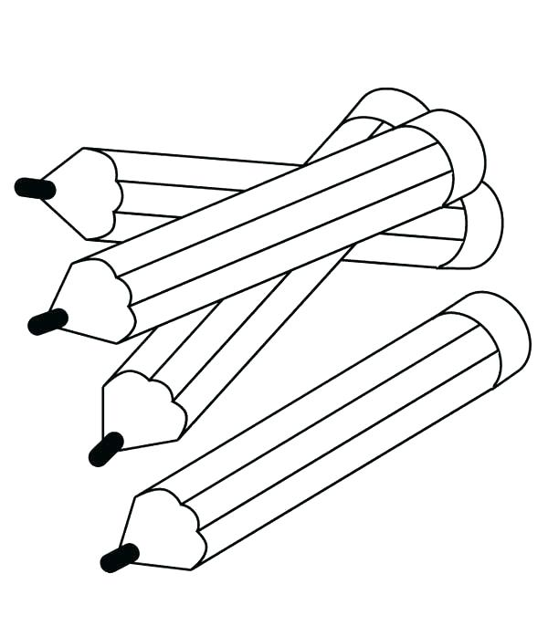 600x686 Coloring Pages Pencil