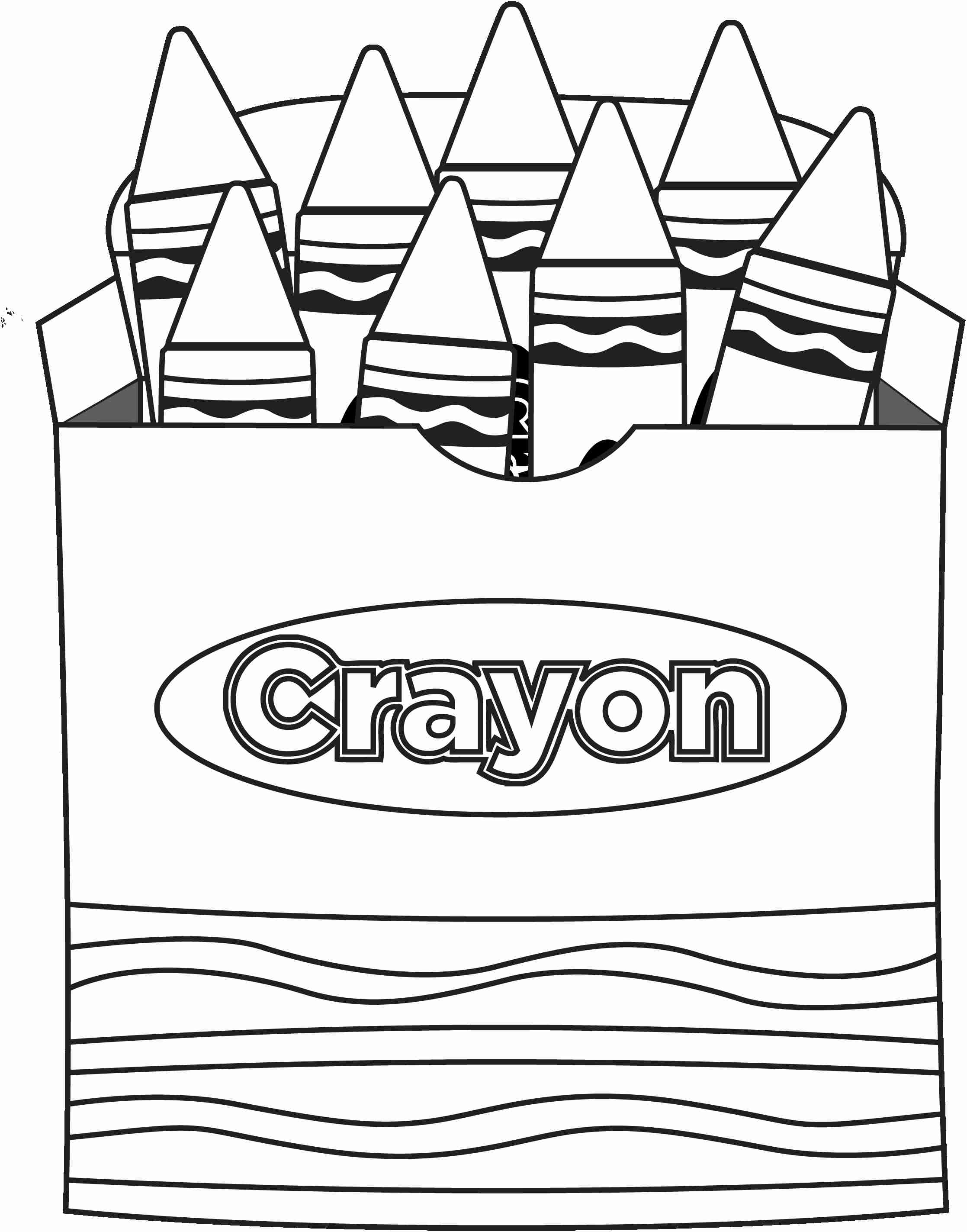 2235x2846 Crayon Clipart Colouring Page Pencil And In Color Throughout Box