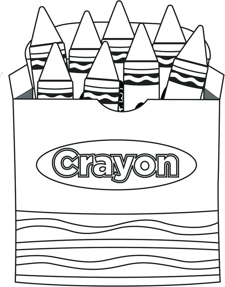 736x937 Crayon Pictures To Color Crayon Colouring Page Pencil And In Color