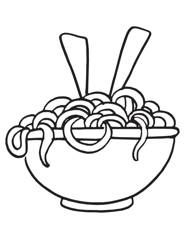 630x810 Pasta Coloring Pages Drawn Pasta Coloring Page Pencil And In Color