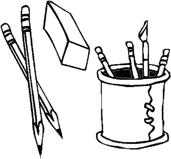 600x561 Pencil Coloring Pages Back To School Coloring Pages Pencil Page
