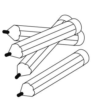 300x343 Photos Free Colored Pencils Coloring Pages