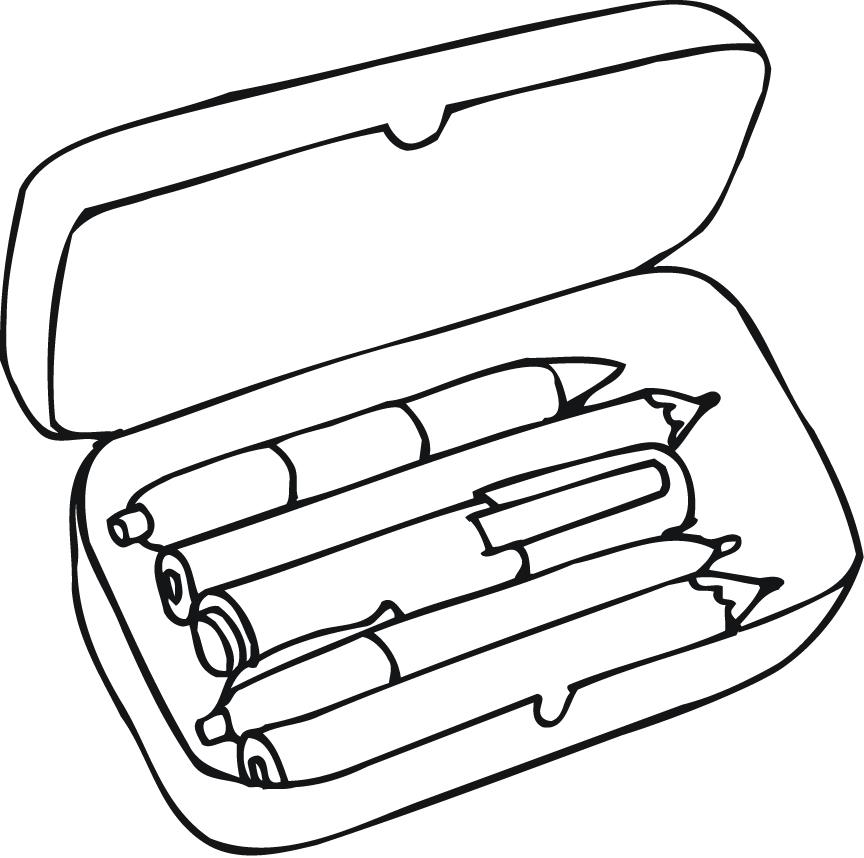 864x858 Coloring Pages Of Pencil Box For Preschoolers