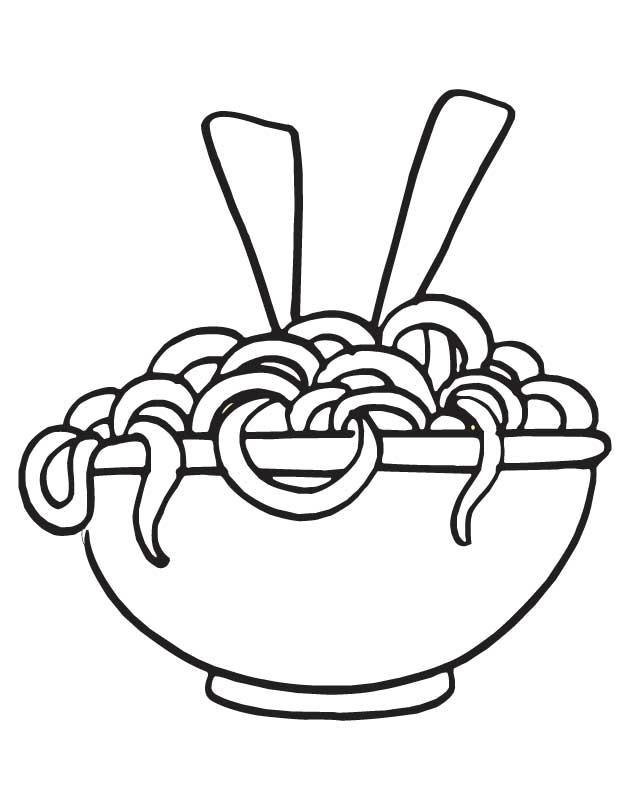 630x810 Drawn Pasta Coloring Page Pencil And In Color Drawn Pasta Pasta