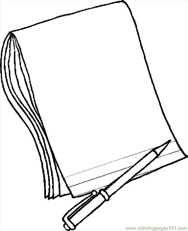 650x799 Paper Coloring Pages Pencil Paper Coloring Page Free School
