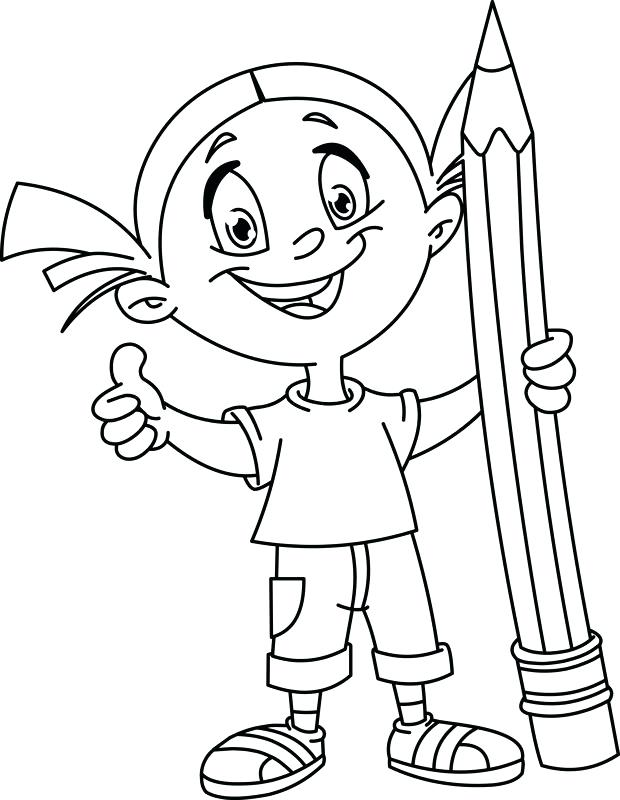 620x800 Pencil Coloring Pages Girl With Pencil Coloring Pages Printable