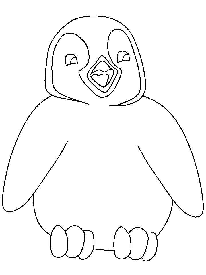 718x957 Penguin Coloring Page Elegant Cartoon Penguin Coloring Pages