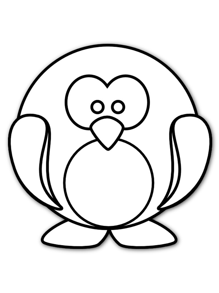 768x1024 Penguin Coloring Pages Cartoon And Hot Ribsvigyapan Com Fine