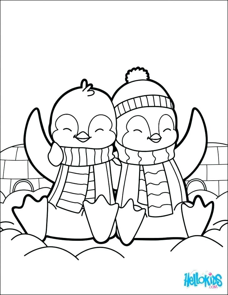 728x941 Penguin Printable Coloring Pages Cartoon Penguin Printable