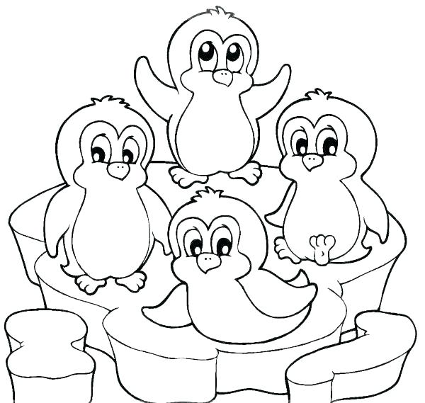 600x569 Free Penguin Coloring Pages Coloring Pages Of Penguins Coloring