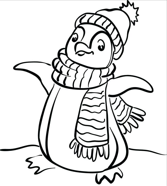 650x724 Penguin Christmas Coloring Pages Cute Penguin Animal Coloring
