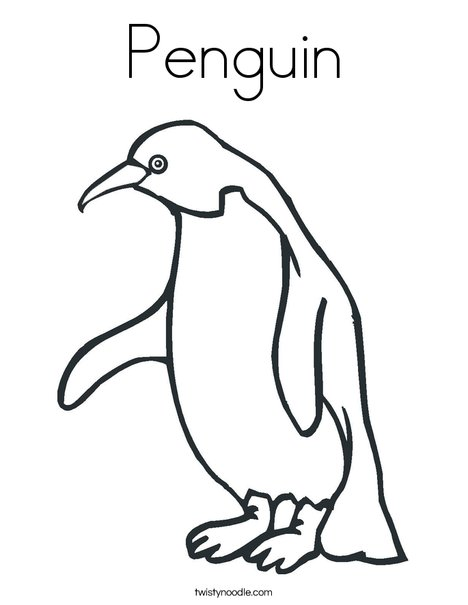 468x605 Penguin Coloring Page