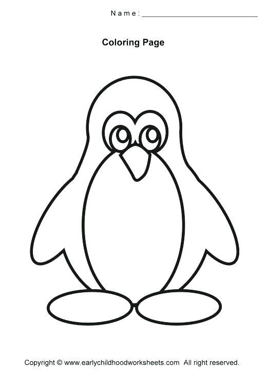 520x730 Penguin Color Page