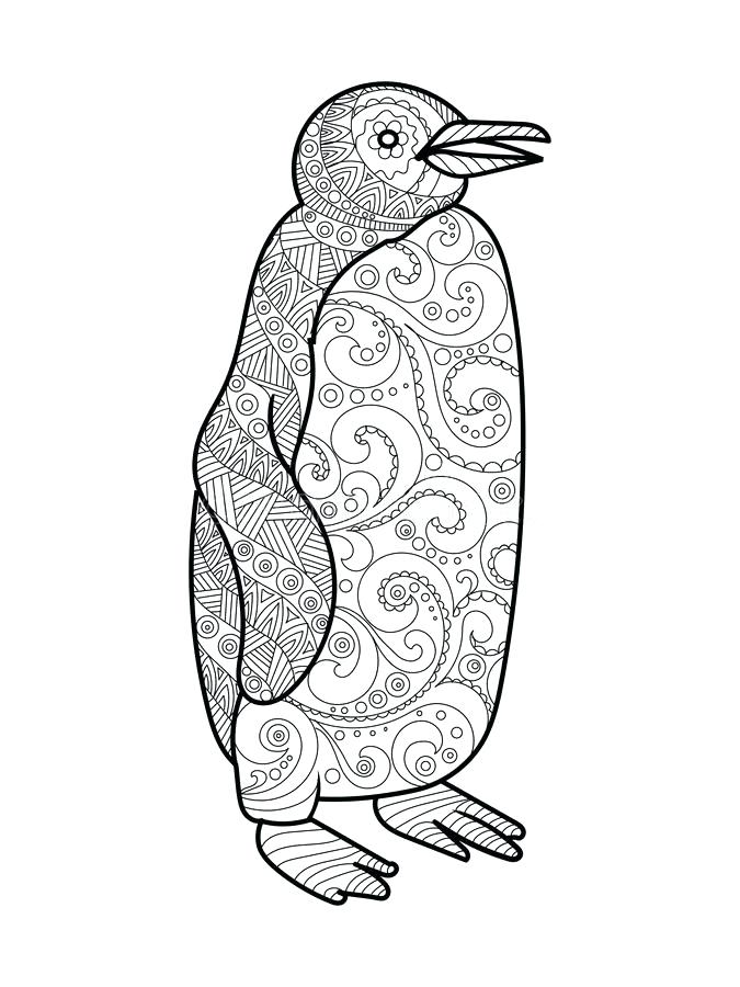 Penguin Coloring Pages For Adults At Getdrawings Free Download