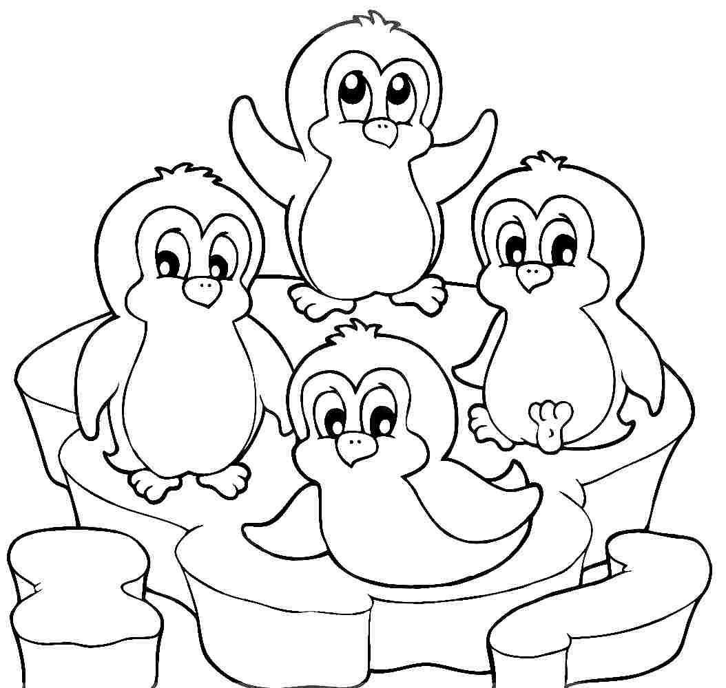 1054x1000 Penguins Coloring Pages With Cute Penguin For Alluring Page Acpra