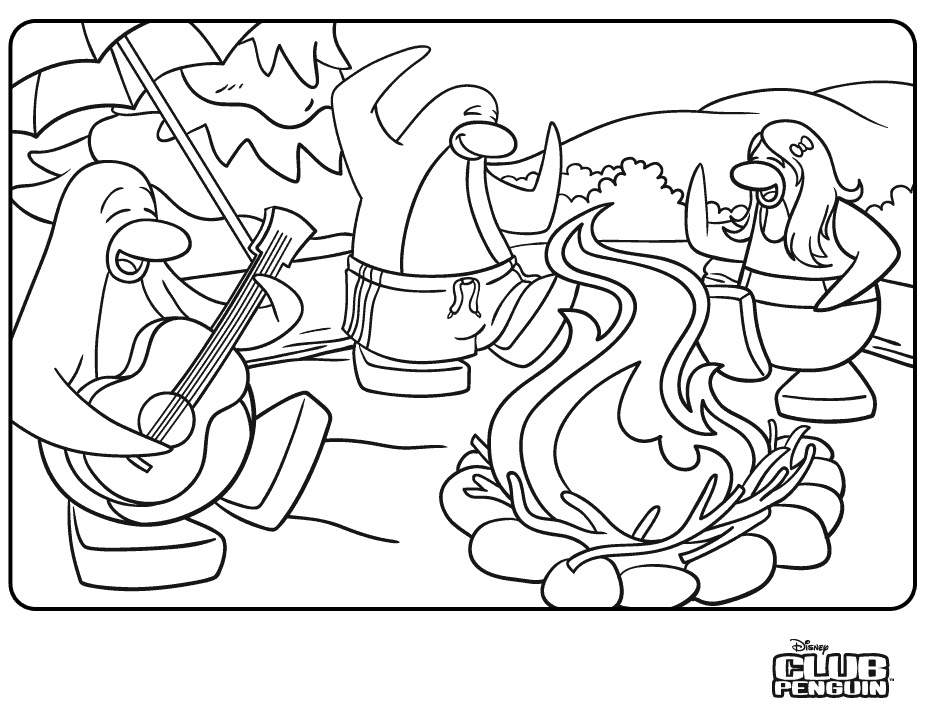 925x720 Printable Club Penguin Coloring Pages