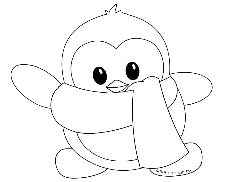 794x581 Cute Baby Penguin Coloring Pages