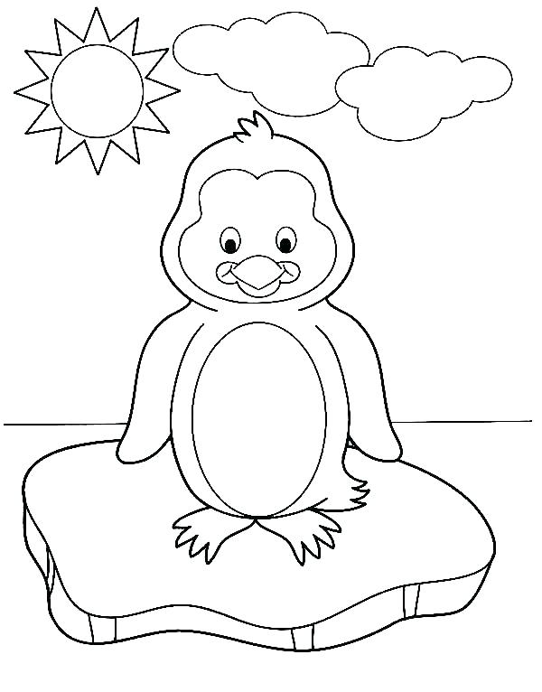 600x766 Christmas Penguin Coloring Pages Penguin Coloring Pages Baby