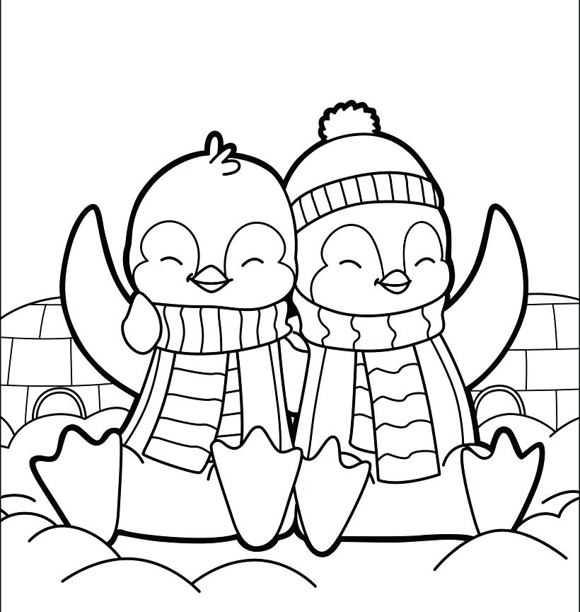 820x864 Coloring Pages Baby Penguins Printable Coloring Penguin Coloring