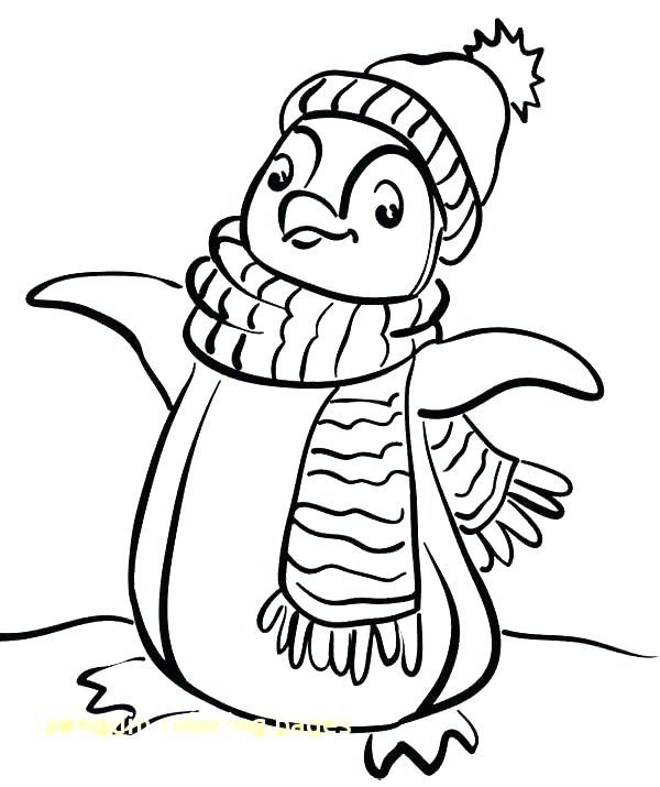 600x715 Penguin Coloring Book Penguins Coloring Page Winter Penguin