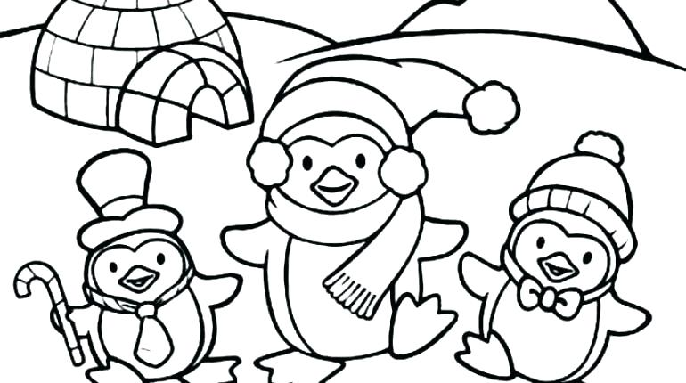 770x430 Penguin Coloring Pages Coloring Page Penguin Cute Penguin Coloring