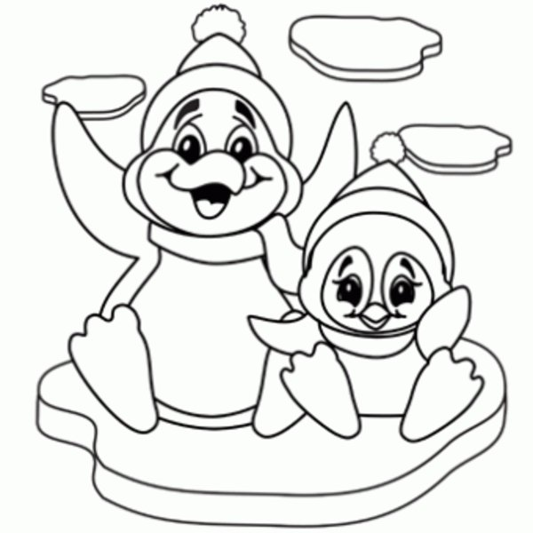 600x600 Penguins Coloring Pages To Download And Print For Free