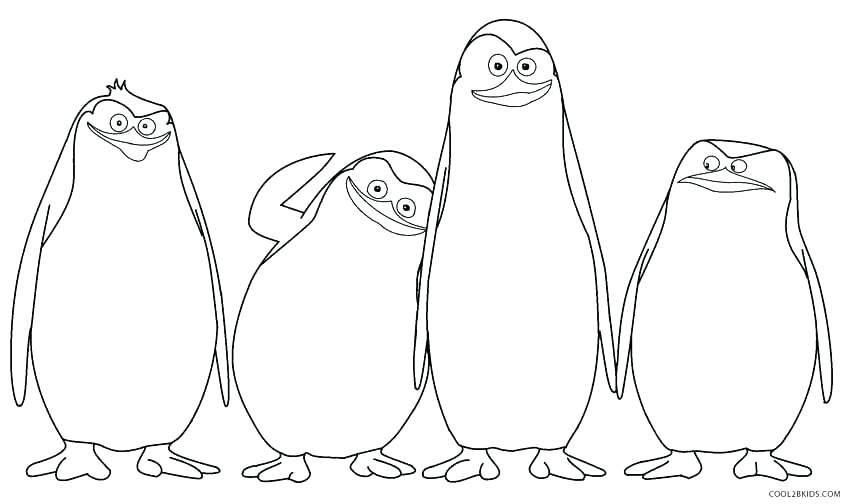 850x504 Free Printable Colouring Pages Penguins Coloring Pages Collection