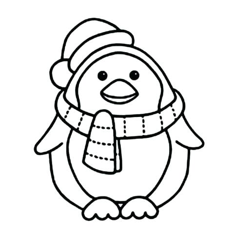 480x480 Coloring Page Of Penguin Penguin Coloring Page Pdf