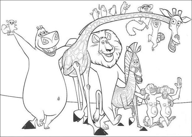 620x443 Madagascar Coloring Pages