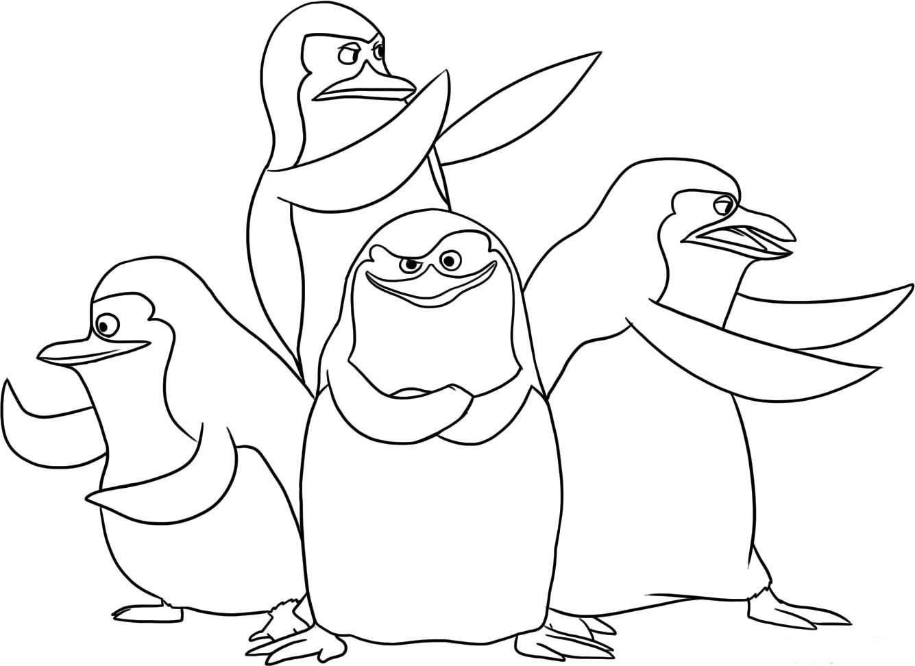 1335x972 Penguins Of Madagascar Coloring Pages