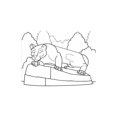 400x400 Nittany Lion Coloring Page Student Book Store Color Penn State