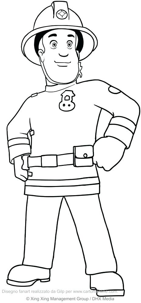 464x992 Fireman Sam Coloring Pages