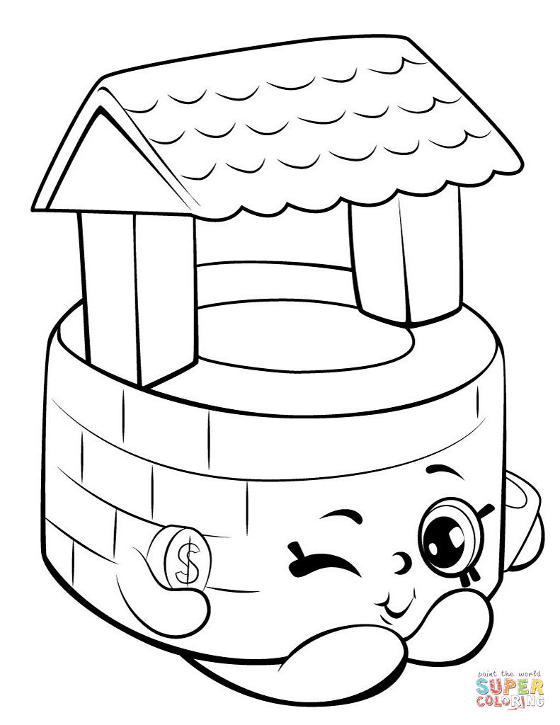 791x1024 Penny Wishing Well Shopkin Coloring Page Free Printable Pages