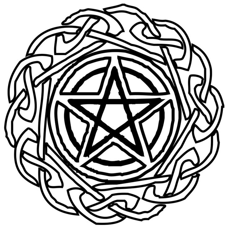 Pentagram Coloring Pages
