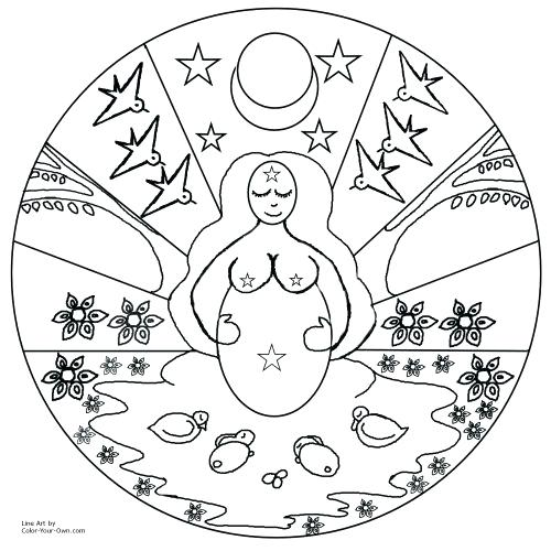 500x500 Pagan Coloring Pages Leaf Free Pagan Coloring Pages For Adults