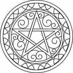 236x236 Pentacle Coloring Page Wicca Pentacle, Protection