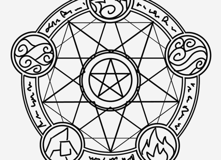 879x635 Graphic Pentacle Coloring Page Lovely