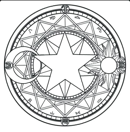 540x547 Pentagram Coloring Sketch Coloring Page Me Wiccan Colouring Pages
