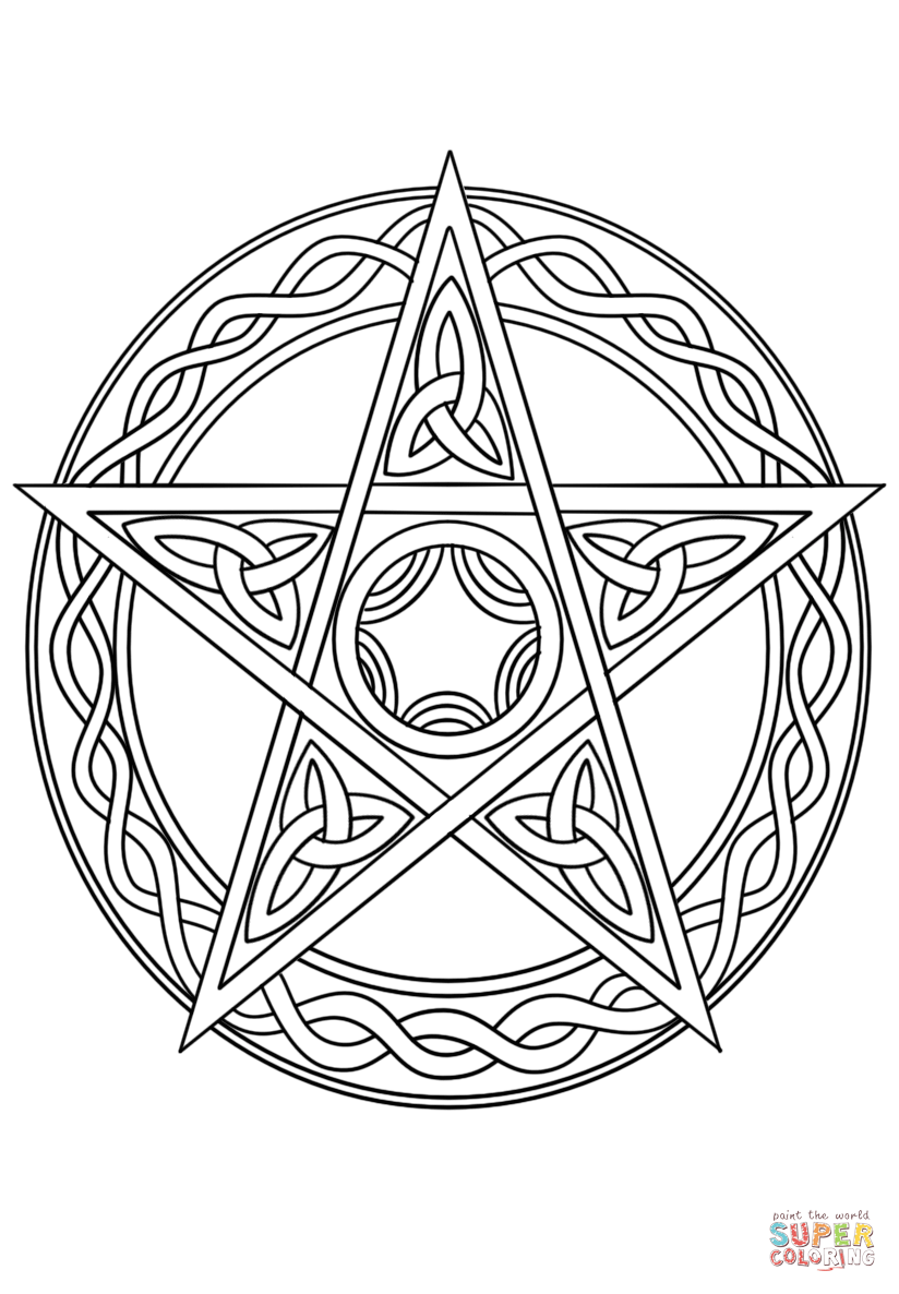 824x1186 Wiccan Pentagram Super Coloring Pages Coloring