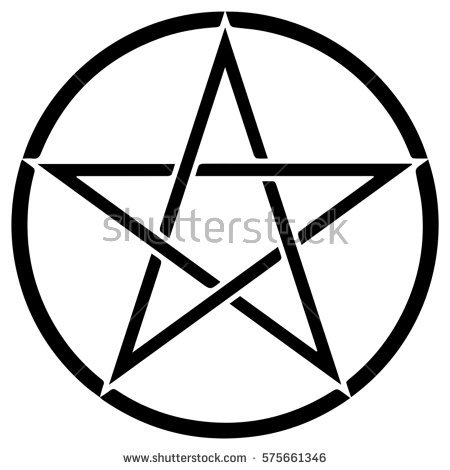 450x470 Wiccan Clipart Pentacle