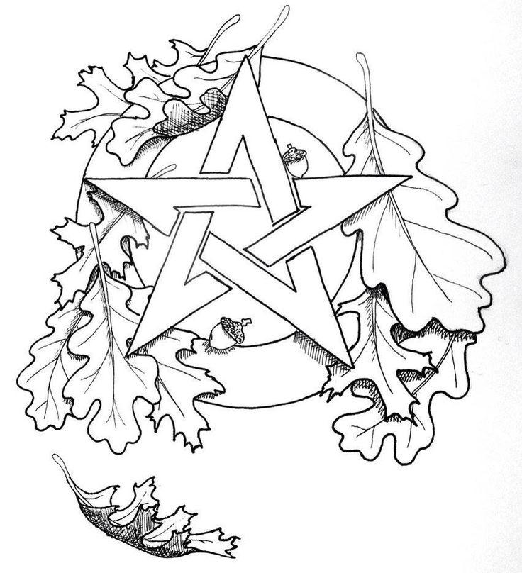 736x808 Adult Coloring Pages Mandala Pentagram Printable