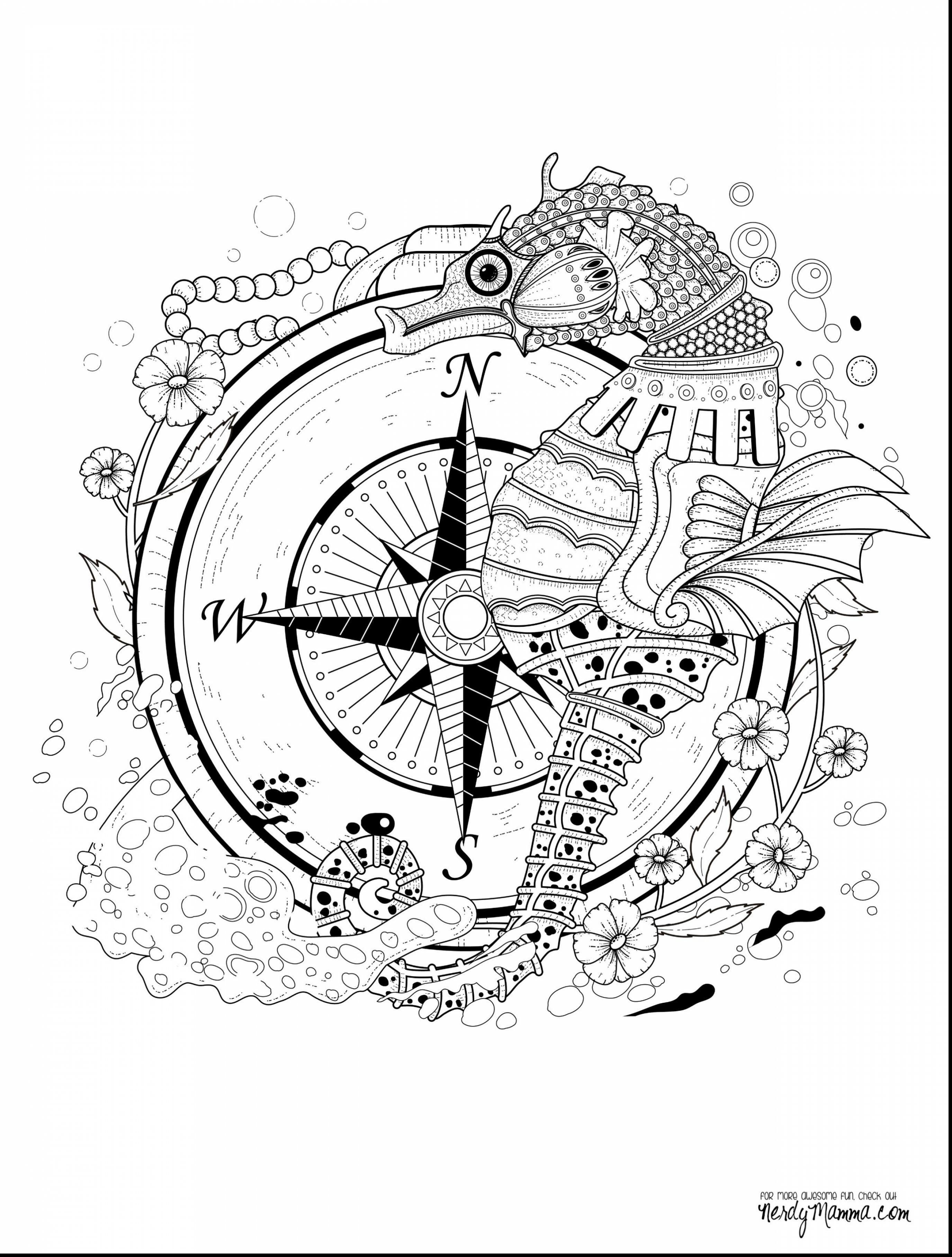 2750x3630 Wonderful Adult Seahorse Coloring Pages Printables With Seahorse