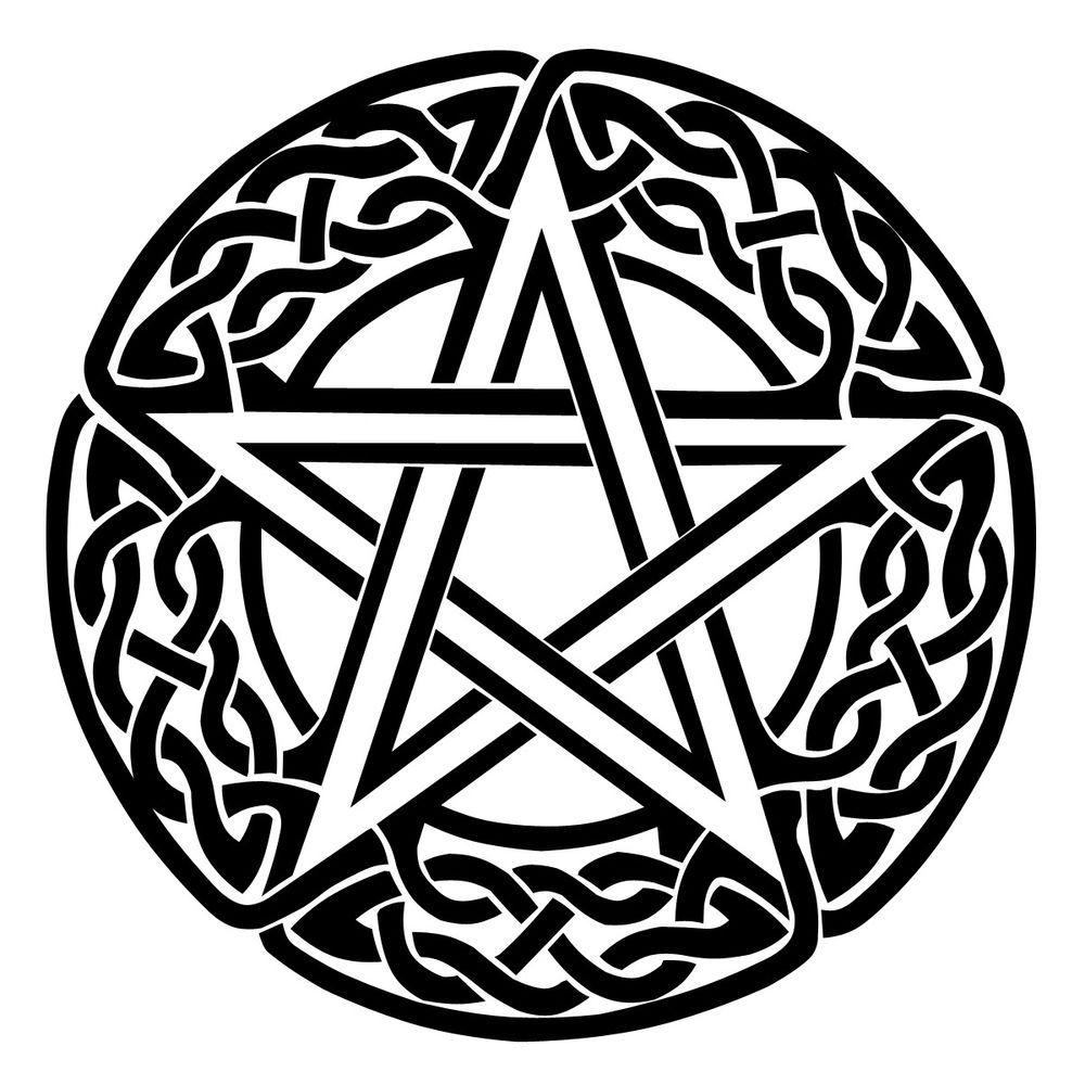 1000x1000 Pentagram Gloss Vinyl Car Sticker, Wicca, Witch, Pagan, Celtic