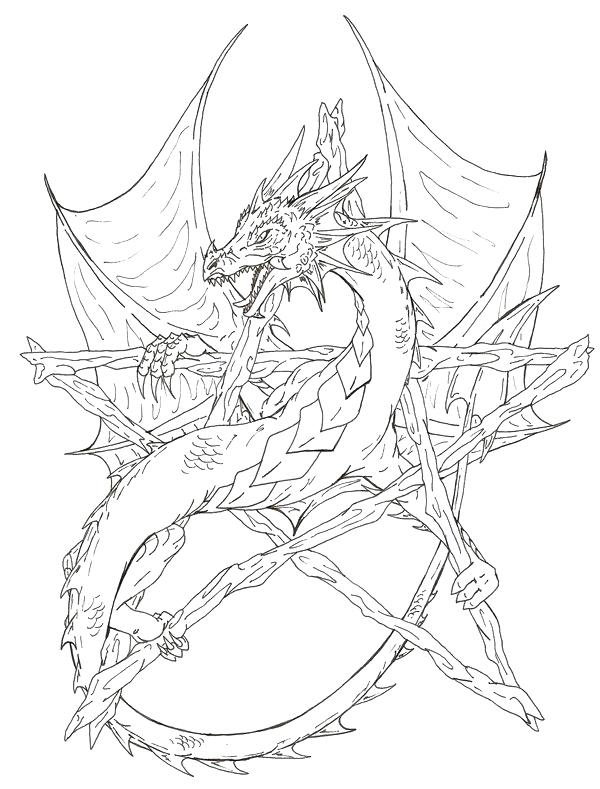 600x789 Coloring Pages Dragons Coloring Pages Pentagram Coloring Pages